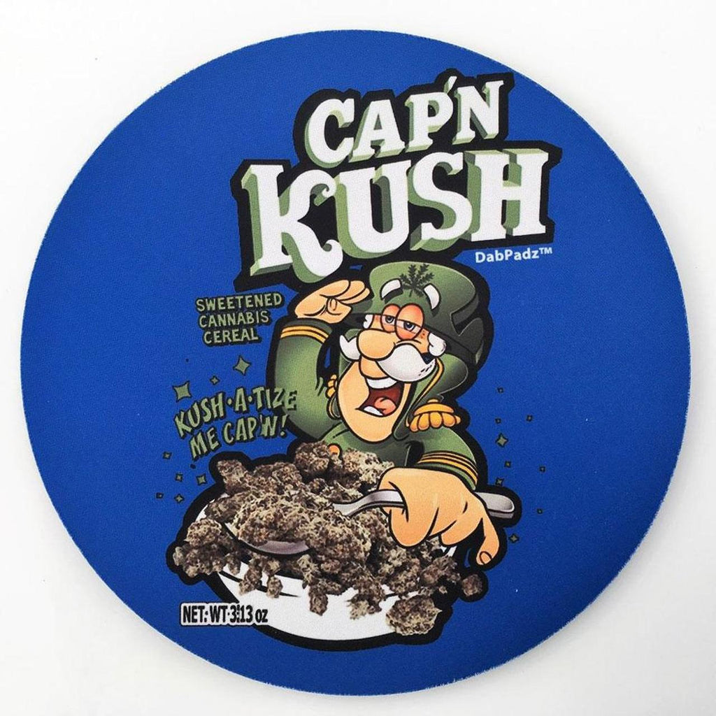 "DabPadz- 5"" Round Fabric Top 1/4"" Thick - Cap'n Kush - Jupiter"