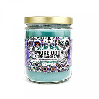 SMOKE ODOR EXTERMINATOR- 13oz Sugar Skull Candle - Jupiter