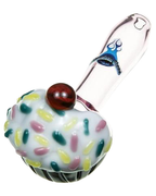 "4.75"" Cupcake Spoon by Chameleon Glass - Jupiter"
