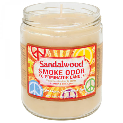 SMOKE ODOR EXTERMINATOR- 13oz Sandalwood Candle - Jupiter
