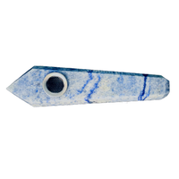 Blue Aventurine Crystal Pipe - Jupiter
