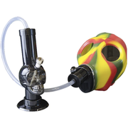 Gas Mask Rasta With Acrylic Skull Water Pipe Kit - Jupiter