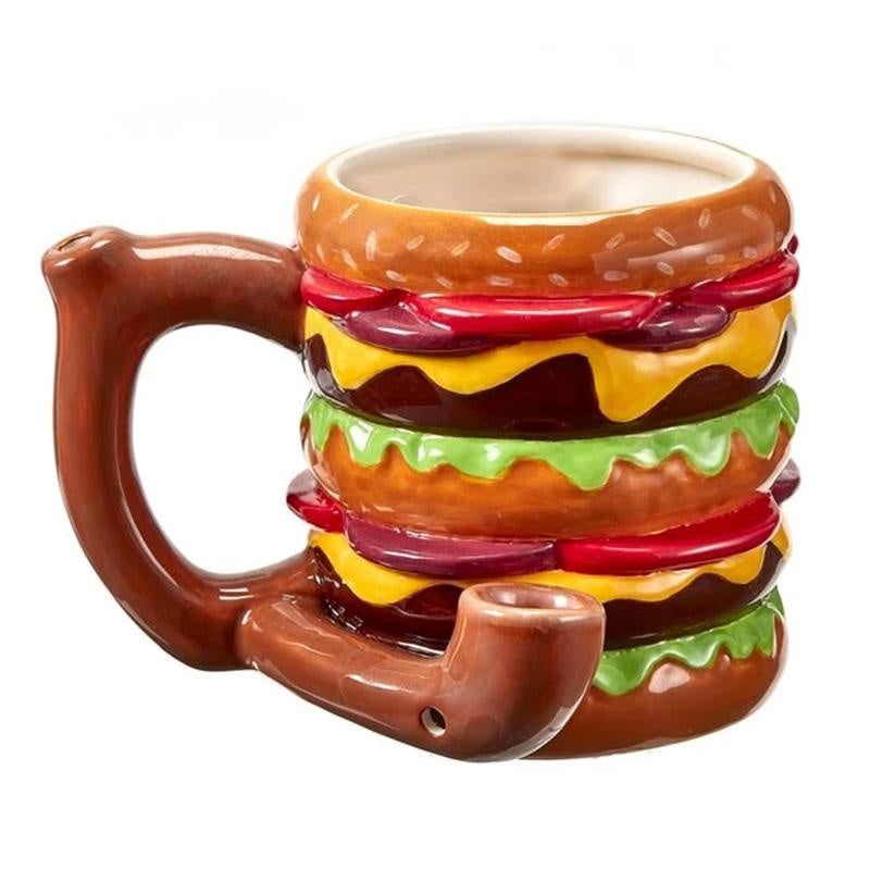 Cheeseburger Mug Pipe - Jupiter