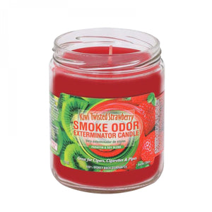 SMOKE ODOR EXTERMINATOR- 13oz Kiwi Twisted Strawberry Candle - Jupiter