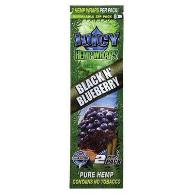 JUICY JAY HEMP WRAPS 2X BLACK N' BLUEBERRY - Jupiter
