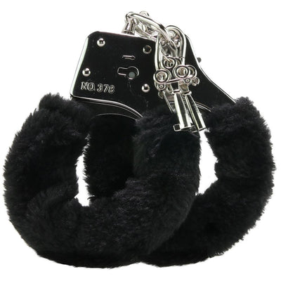 Black Furry Hand Cuffs - Jupiter