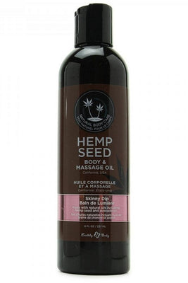 Hemp Seed Massage Oil 8oz/236ml in Skinny Dip - Jupiter