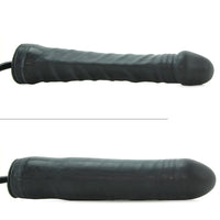Inflatable Stud 9.5 Inch Dildo in Black - Jupiter