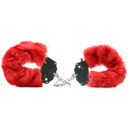 Fetish Fantasy Furry Cuffs in Red - Jupiter