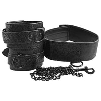 Sex & Mischief Shadow Sparkle Collar and Cuff Set - Jupiter