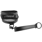 Sex & Mischief Fishnet Collar and Leash - Jupiter