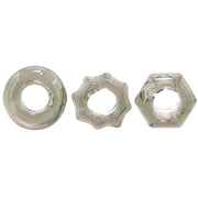 Evolved Novelties- Triple Thick Cock Ring 3 pc Set - Jupiter