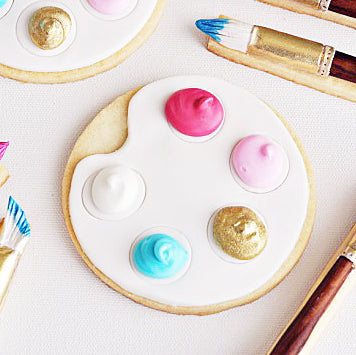 "Artist's Palette & Paintbrush Cookies (with a special ""Twist"")"