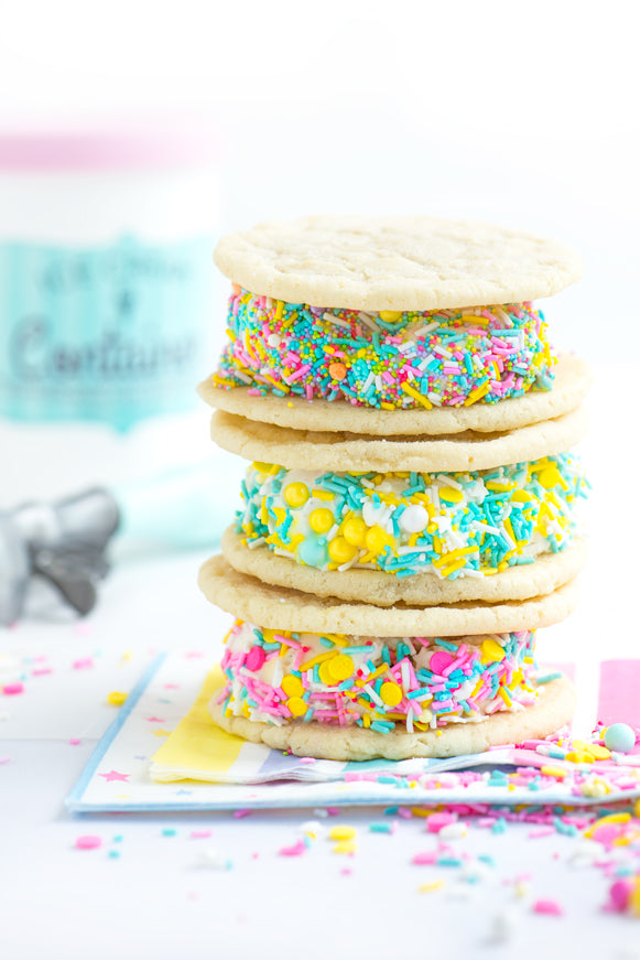 Sugar Cookie Ice Cream Sandwiches {with Video!}