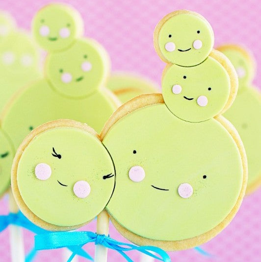 Little Pea Sugar Cookie Pops and a Virtual Baby Shower