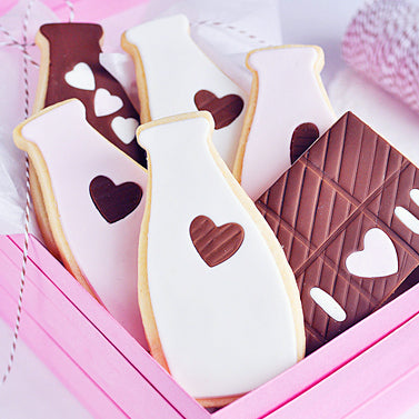 My Heart Belongs To U: Neapolitan Milk & Chocolate Sugar Cookies