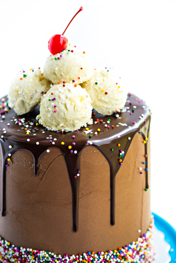 Root Beer Float Layer Cake