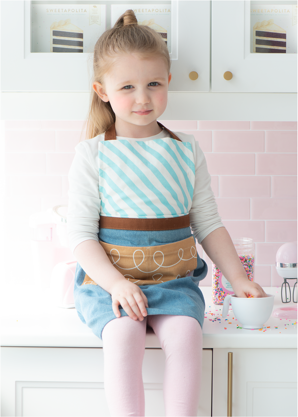 Sweetapolita™ Signature Youth Apron | Milk Chocolate Squiggle