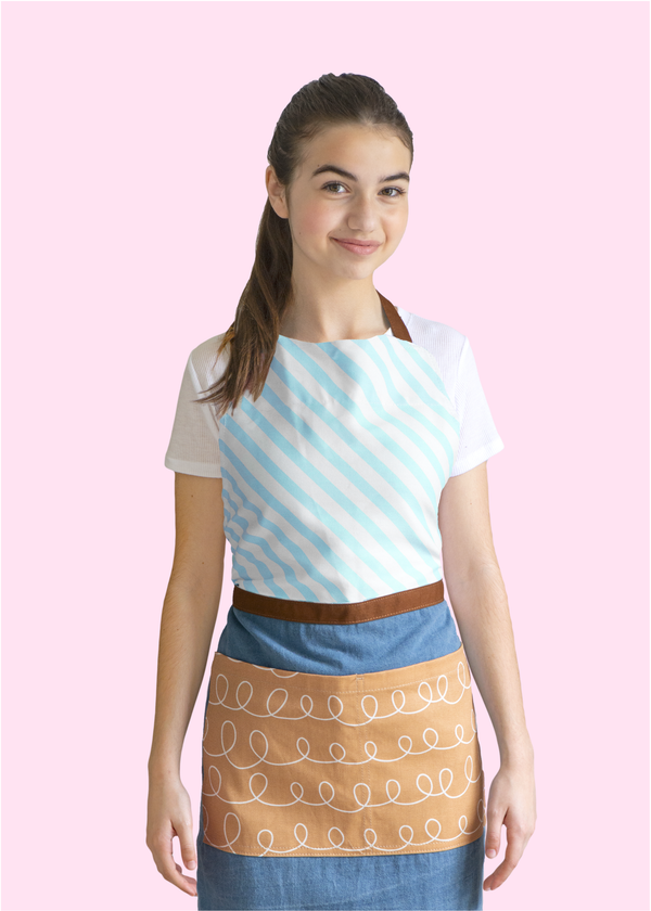 Sweetapolita™ Signature Adult Apron | Milk Chocolate Squiggle