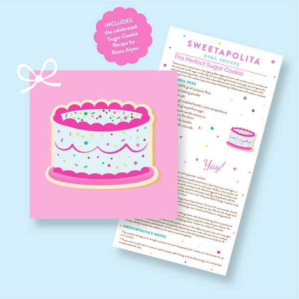"Sweetapolita™ ""Cake"" Cookie Cutter with Recipe Card"