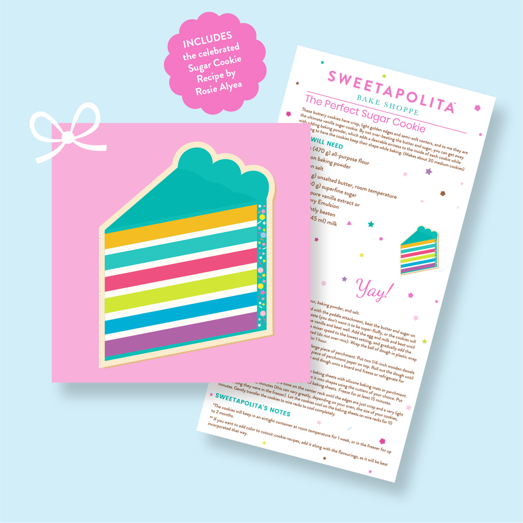 "Sweetapolita™ ""Cake Slice"" Cookie Cutter with Recipe Card"