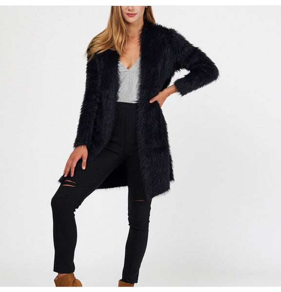 THE LOLA CARDIGAN IN BLACK