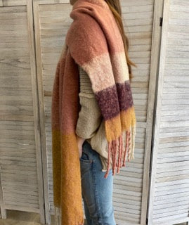 Sunset Scarf in Pink Tones