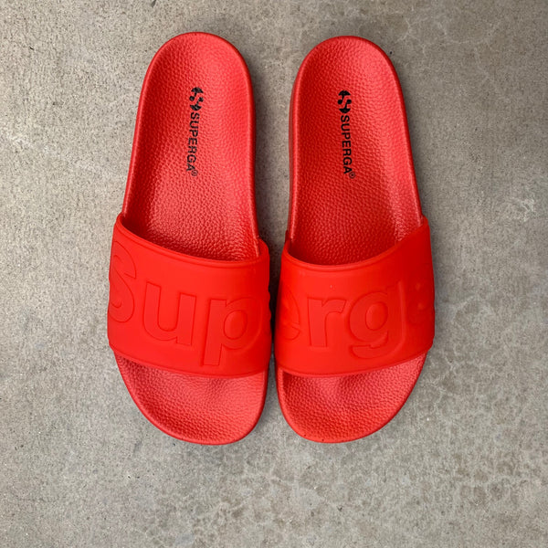SUPERGA LOGO POOL SLIDE IN RED
