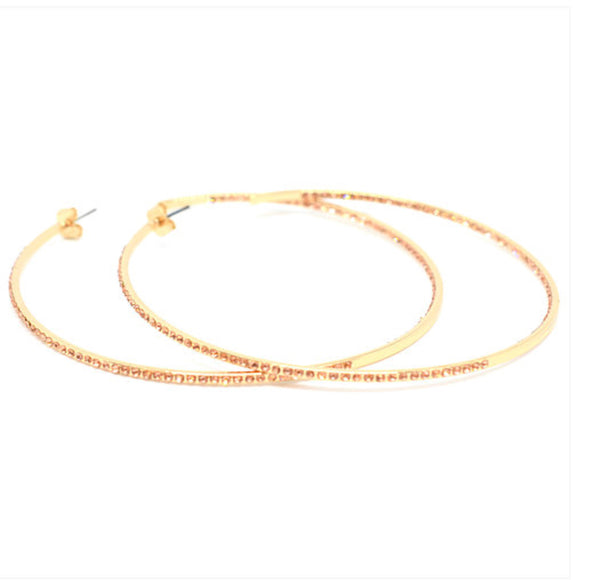 BLING BAR MANOLITA  HOOPS ROSE GOLD