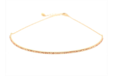 BLING BAR MANOLITA CHOKER ROSE DIAMONTE