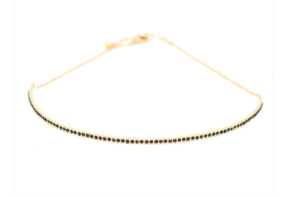 BLING BAR MANOLITA CHOKER BLACK DIAMONTE