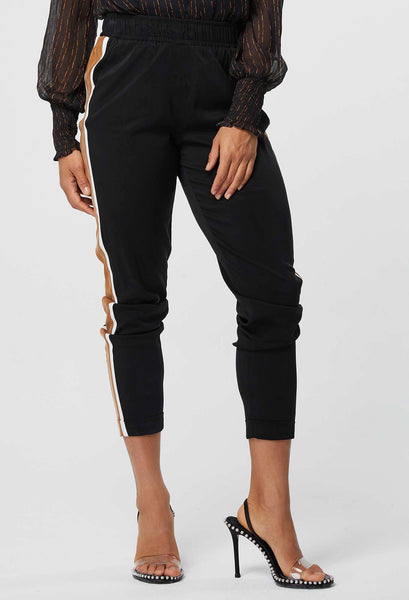 ONCE WAS PIONEER CUPRO BLEND RELAXED JOGGER IN BLACK / BRONZE