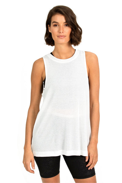 B.O.D BY FINCH BELLE TWIST TANK IN WHITE