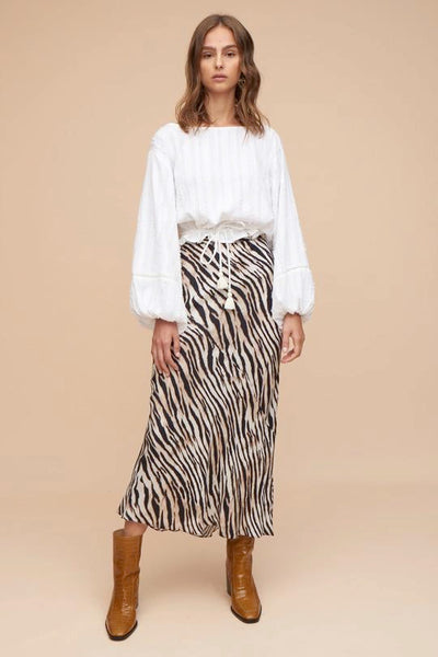 TIGERLILY MIKU MIDI SKIRT IN NATURAL