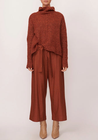 POL ASPEN TURTLENECK KNIT IN RUST