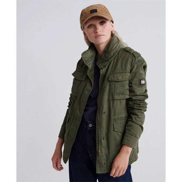 SUPERDRY AMELIA ROOKIER ICON JACKET IN KHAKI