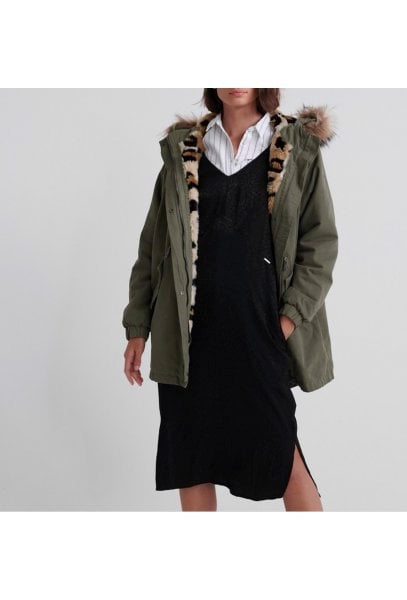 SUPERDRY LUCY ROOKIE PARKA IN KHAKI
