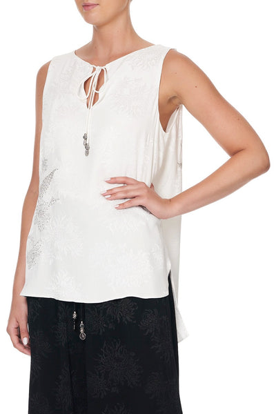 CAMILLA SILVER LININGS SIDE SPLIT TOP