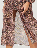 STEVIE MAY BRAZIL MIDI DRESS IN GEO SWIRL