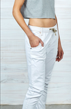 DRICOPER ACTIVE DENIM JEANS IN CRISPY WHITE