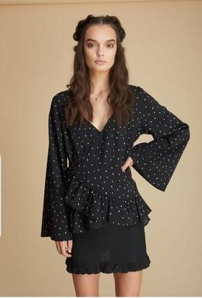 SONDER STORIES HARVEY TOP BLACK PRINT