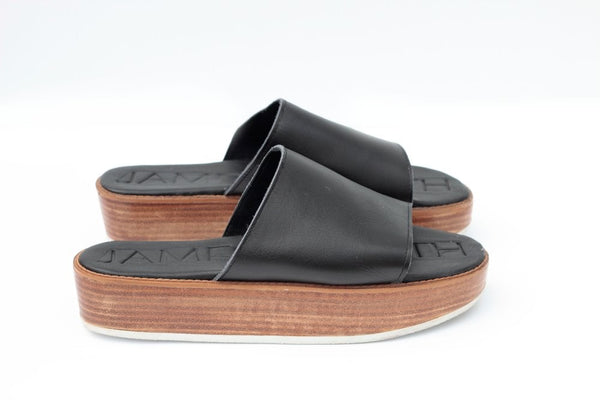 JAMES SMITH STEVIE STACK WOODEN STACKED SLIDE - BLACK