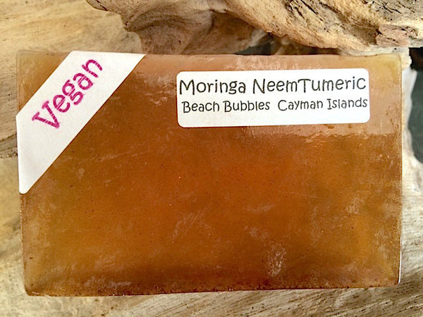 VEGAN - Moringa Neem Tumeric - Cold-Pressed Oil Luxury Essential Oil Soap Bar - 5 oz