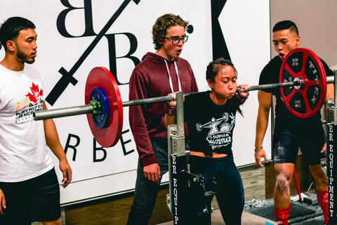 band of barbells team training