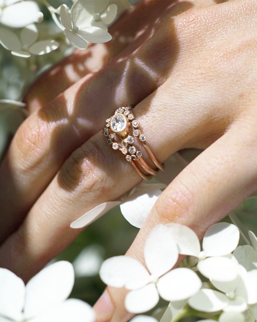 White Diamond Engagement Rings