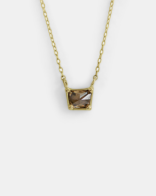 Dew / Single Trapezoid Diamond Pendant by #vendor - pendants