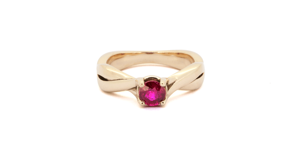 Braid Ring - Ruby