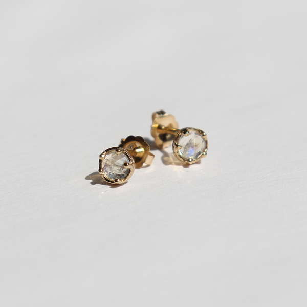 Moonstone Studs by #vendor - earrings
