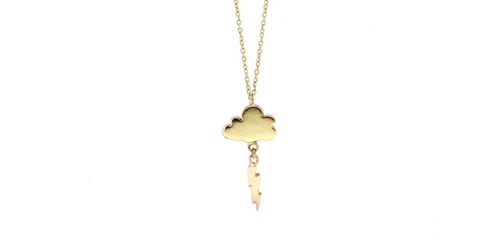 Cloud + Bolt Necklace