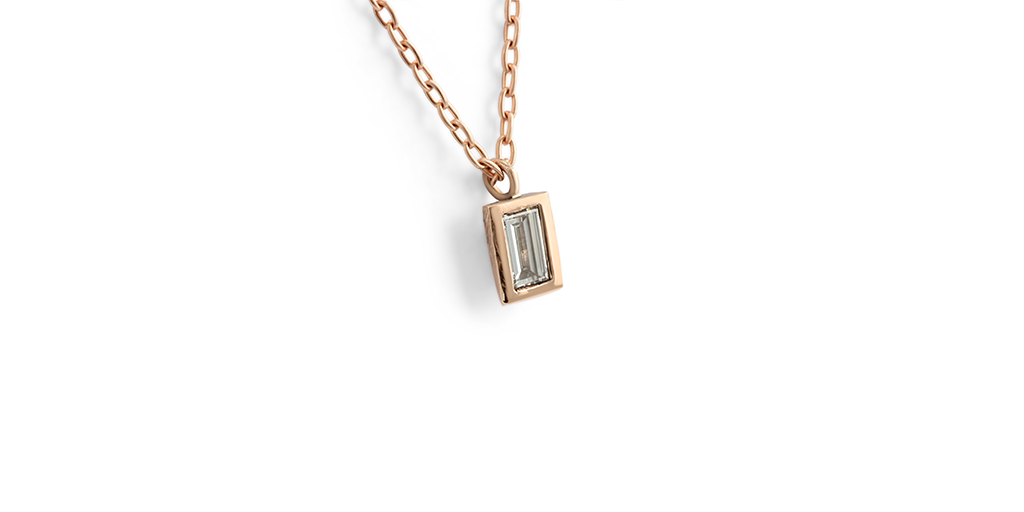 Cathedral / Baguette Pendant by vendor - pendants - Fine Jewelry Studio in Williamsburg, Brooklyn, NYC